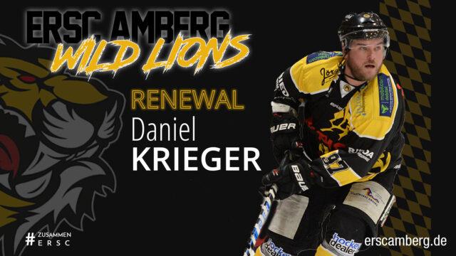 Daniel Krieger stürmt weiter für die Wild Lions